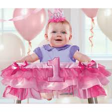 1st birthday girl 1st birthday girl high chair decoration