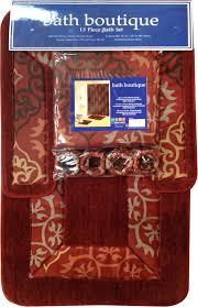 Bathroom Rug And Shower Curtain Sets Home Dynamix Bath Boutique Bath Rug Set 1574 213 Brick Bath