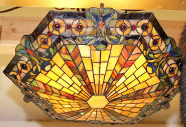 Stained Glass Ceiling Light Kichler Mission Style Stained Glass Ceiling Light