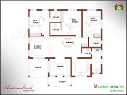 architecture kerala 1100 square feet single storied house plan