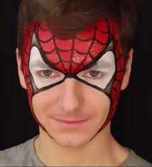 80 superheroes images face paintings body