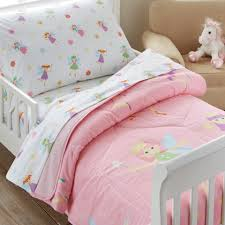 girls bedding pink pink fairy princess toddler bedding 4pc bed in a bag set cotton