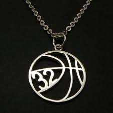personalized basketball necklace personalized number basketball necklace basketball jewelry