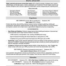 data analyst resume senior data analyst resume sle fresh data analyst resume sle