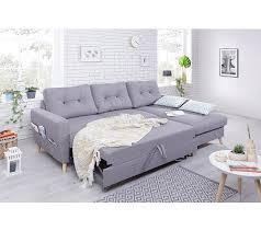 canapé d angle droit convertible canapé d angle droit convertible tissu gris clair stockholm