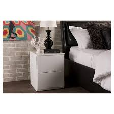 washington modern and contemporary wood 2 drawer nightstand