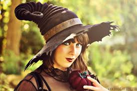 halloween costume hat tattered brim witch hat