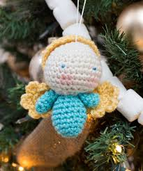 Amigurumi Christmas Ornaments - amigurumi angel ornaments red heart