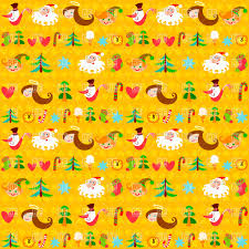 yellow wrapping paper yellow christmas wrapping paper with symbols royalty free