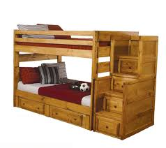 Wooden Bunk Bed Plans Free by Fine Bunk Bed With Stairs In Inspiration