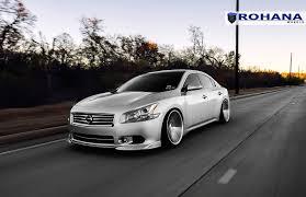 stanced nissan sentra stanced nissan maxima on rohana rc 8 custom wheels u2014 carid com gallery