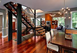 Open Staircase Ideas Open Staircase Ideas With Staircase Focal Dining Room Contemporary