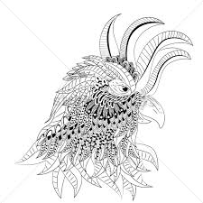 intricate rooster design vector image 1563776 stockunlimited
