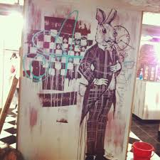 mad girl tea party new lora zombie wall mural i m in love