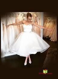 vintage retro short wedding dresses tea length wedding gowns