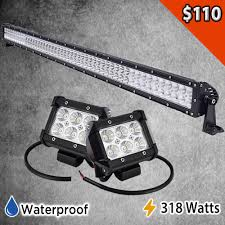 led light bar bundle led bundle package 52 light bar with set of two 4 pods light