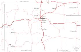 Map Of Colorado Cities And Towns Cities In Colorado Map Colorado Cities Map Map Of Colorado Travel