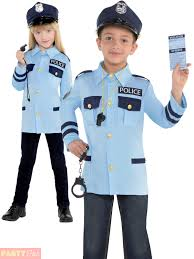 child police costume boys girls pc cop fancy dress kids book week
