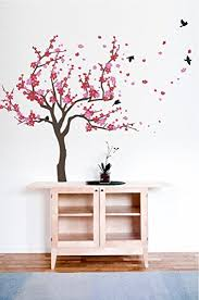 Cherry Blossom Tree Wall Decal For Nursery Japanese Cherry Blossom Tree And Birds Wall Decal