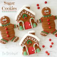 the partiologist gingerbread themed sugar cookies