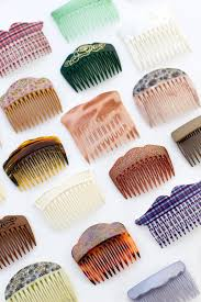 vintage comb vintage glitter combs made in hair combs mane message