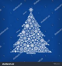 tree snowflakes blue stock vector 162612005