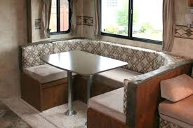 vintage dutch travel trailer makeover part 6 new dinette