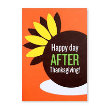 happy day after thanksgiving card