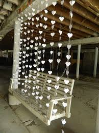 wedding backdrop garland wedding curtain paper heart curtain garland