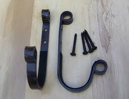 wall mount dinner bell blacksmith made buckle gun rack hangers wall mount made to