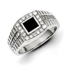 rings of men men s black onyx 1 2 carat diamond ring in sterling silver jewelry
