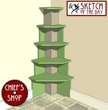 Corner Shelf Woodworking Plans by Built In Corner Shelves Chief U0027s Shop