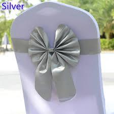 spandex sashes silver grey colour ready made tie lycra chair sash for wedding