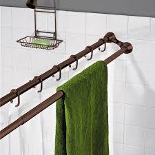 curved double shower curtain rod bathroom inside bathroom curtain rods mbnanot com