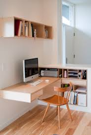 Modern Built In Desk by Kim U0027s Desk U2013 Small Home Offices On Inspirationde