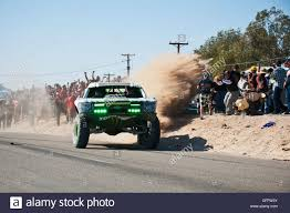 baja trophy truck b j baldwin trophy truck arriving at finish of 2012 san felipe
