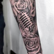 Unique Tattoo Sleeve Ideas 60 Music Sleeve Tattoos For Men Lyrical Ink Design Ideas