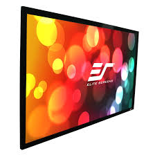 elite screens er120wh1 a1080 sable fixed frame projection screen