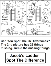 depiction of jacobs ladder in jacob and esau coloring page jacobs