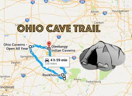 Canton Ohio Map by Road Trip To Ohio U0027s Best Most Incredible Caves Ohio Cave Trail
