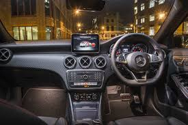 mercedes dashboard at night 2015 mercedes benz a 250 amg review
