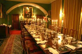 Dinner Parties  Private Dining At Kincardine Castle Aberdeenshire - Castle dining room