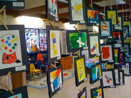 art show ideas maybe in the community room or near doors by elevator neat and easy