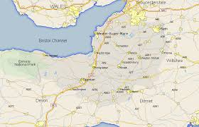 somerset map somerset map county maps uk