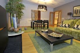 natural brown beautiful living room with dining table decor photos