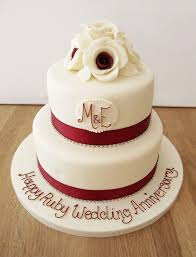 ruby wedding cakes 40th wedding anniversary cake ruby by manning cakes via