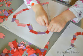 confetti hearts preschool craft for valentine u0027s day stay at home