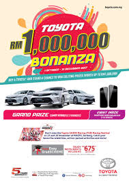 buyatoyota buy a toyota and win up to a million ringgit in prizes carsifu