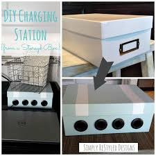 how to build a charging station diy charging station diy charging station from an old vhs storage