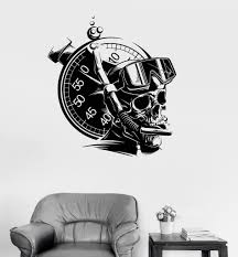 wall decal diver skull extreme sports marine scuba stickers ig3948 vinyl wall decal diver skull extreme sports marine scuba stickers ig3948